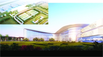 Artistic impressions of the new Zambian airport being developed by a Chinese firm