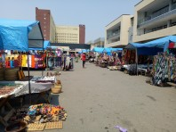 "The thrift market (""Maasai market"") in Lusaka"